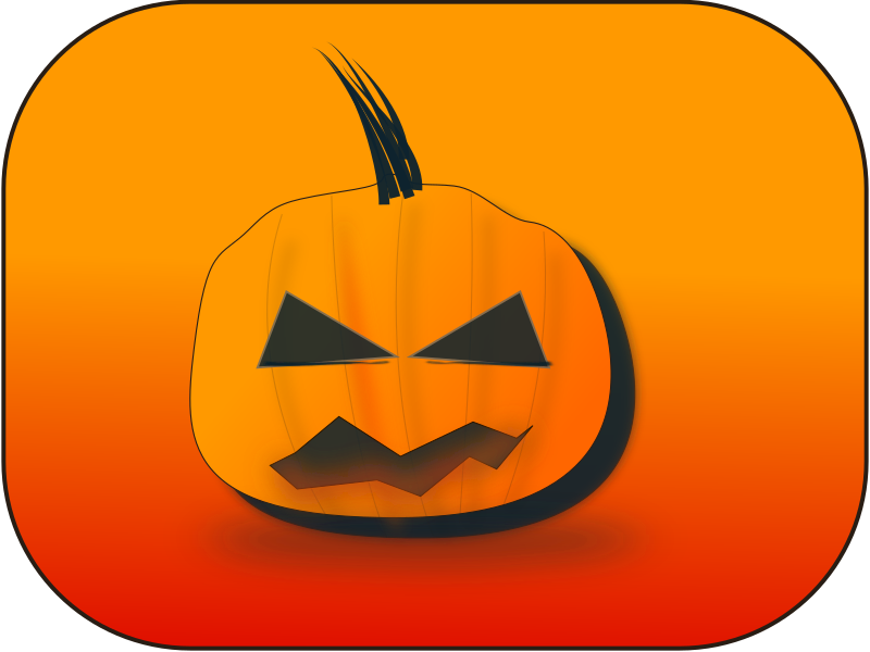 carved pumpkin illustration from openclipart.org